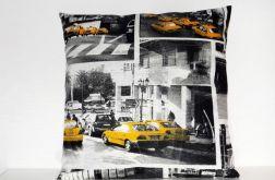 Taksówki USA-poduszka z bawełny Canvas