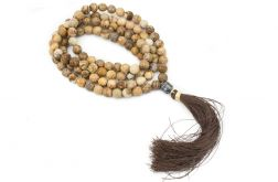Mala buddyjska sznur medytacyjny jaspis