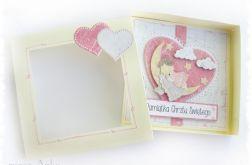 Kartka w pudełku na Chrzest dla dziewczynki