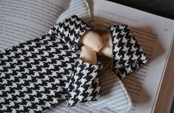 Zakładka do książki - anioł czarno-biały