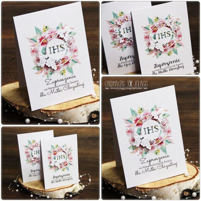 Zaproszenie Dla Matki Chrzestnej Cardmaking By Jolagg