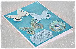 Motyle na ślub - kartka dla Młodej Pary