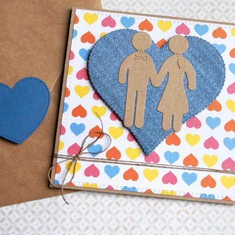 kartka ślubna :: ludziki :: multicolor