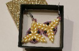 Kolczyki - żółty trójkąt