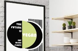 Plakat The future is Vegan