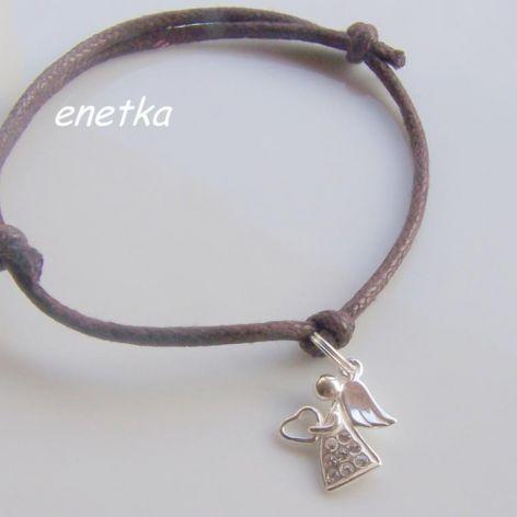 enetka -Bransoletka -SWAROVSKI aniołek - 5 KOLORÓW