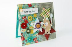 Happy Birthday - wesoły potworek