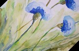 Kwiaty-akwarela formatu A4