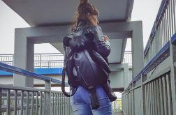 Moori plecak skórzany miś