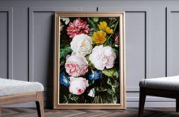 Plakat kwiaty vintage 50X70 B2