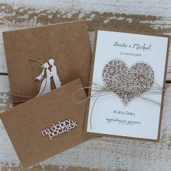 Oryginalna kartka ślubna i pudełko 1
