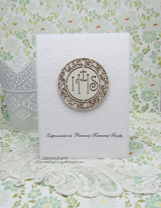 Zaproszenie Na I Komunię św Hostia Duża Papierowa Przystań