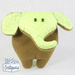 Mini słoń brązowo-zielony