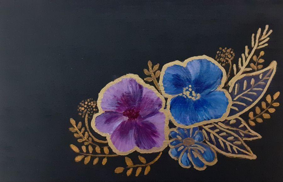 Skrzynka z motywem kwiatowym - Skrzynka kwiaty 3