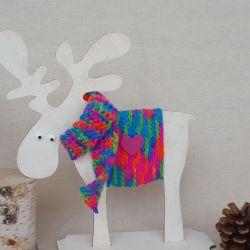 Łoś Sven ze sklejki - kolorowy