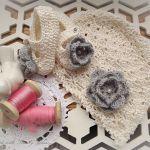 Czapka i baletki dla małej księżniczki, bawełna