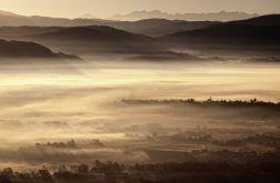 Jesienny pejzaż we mgle