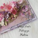 Kartka uniwersalna w fiolecie i różu