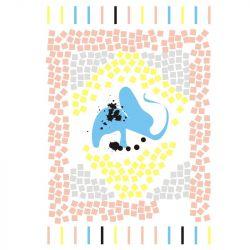 Pastelowy Kilim... art print