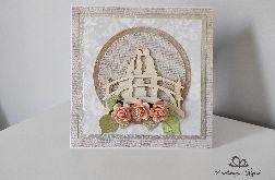 Kartka na Ślub ręcznie robiona para na moście