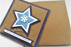 Kartka bożonarodzeniowa z gwiazdką