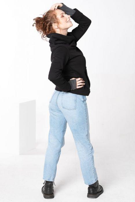 Bluza damska bez zamka - bluza ze stójką