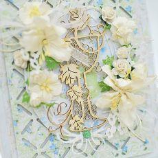 Pamiątka I Komunii Świętej z błękitem