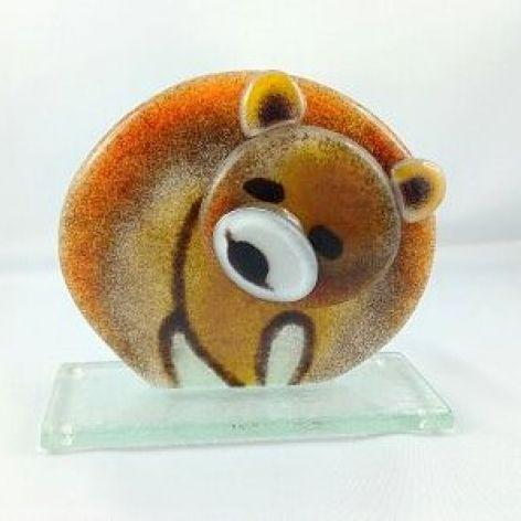 Miś / niedźwiedź ze szkła fusing