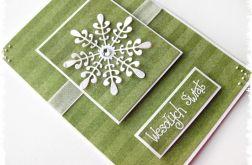 Zielona kartka świąteczna