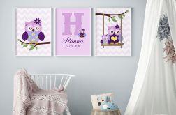 Sowy, plakaty z personalizacją. format A3