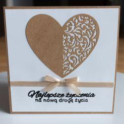 Kartka ślubna Najlepsze życzenia ślub
