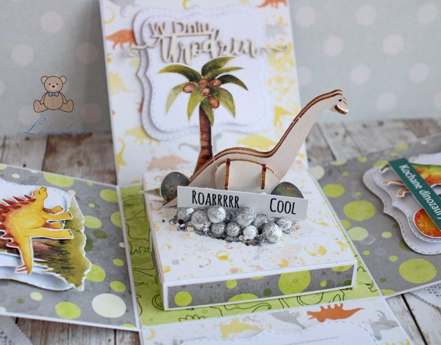 Exploding box urodziny z Dinozaurem 3D GOTOWY