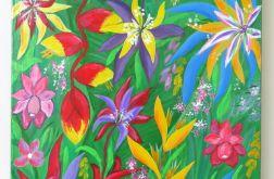 """Obraz """"W tropikalnym ogrodzie"""""""