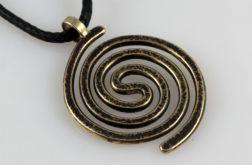 Spiralny - mosiężny wisiorek 210305-03