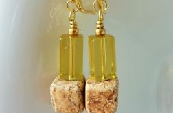 Kolczyki ceramiczno-szklane