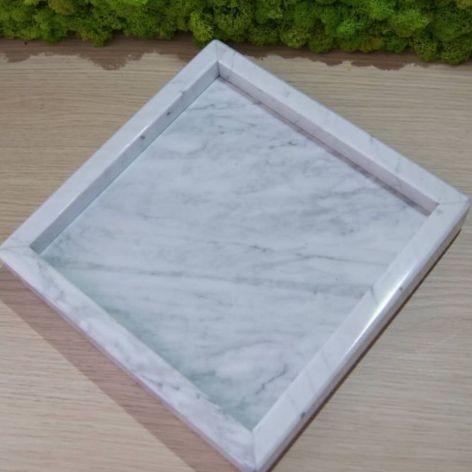 Taca marmurowa Bianco Carrara