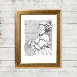 Ilustracja 'Dama'
