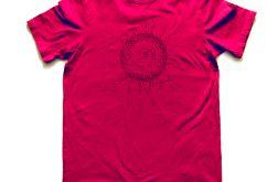 rozmiar L Bordowa koszulka Ethnic sun - 1