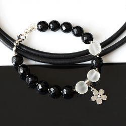 Czarno-biała bransoletka