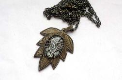 Naszyjnik-wisior Vintage bronze