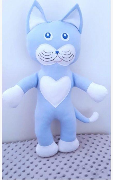 Kot,kotek,maskotka,niebieski. - Kot