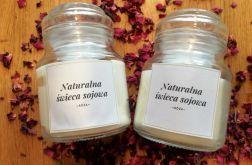 Naturalna świeca sojowa Róża