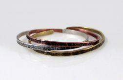 Komplet 3 metalowych bransoletek 190811-00