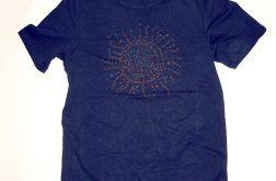 rozmiar L Czarna koszulka Ethnic sun - 1