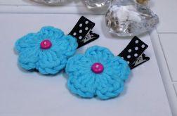 spinki handmade 2 szt. kwiatki2