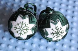 Karczochy zielono-srebrne z haftem