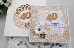 Kartka na 40 urodziny w pudełku 05