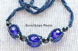 Niebieskie kryształki - naszyjnik