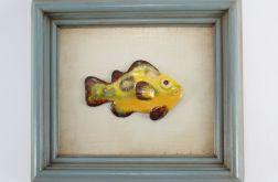 Dekoracja ceramiczna rybka w ramie