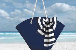 Granatowy kosz plażowy